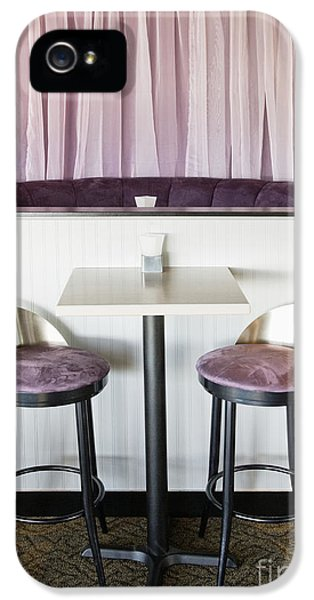 Barstools iPhone 5 Cases - Bar Table and Chairs iPhone 5 Case by Andersen Ross