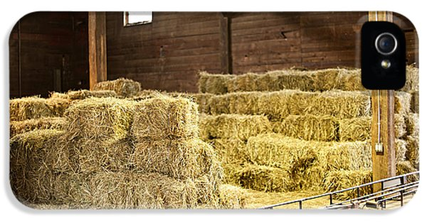 Barn With Hay Bales IPhone 5 / 5s Case by Elena Elisseeva