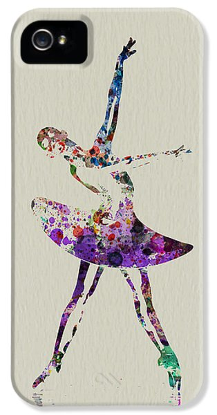 Ballerina iPhone 5 Cases - Beautiful Ballerina iPhone 5 Case by Naxart Studio