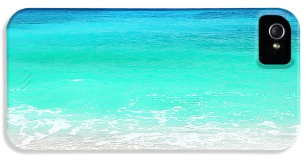 Summertime iPhone 5 Cases - Beautiful blue sea beach iPhone 5 Case by Anna Omelchenko