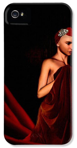 Artistic Nude iPhone 5 Cases - Beautifully Red iPhone 5 Case by Lourry Legarde