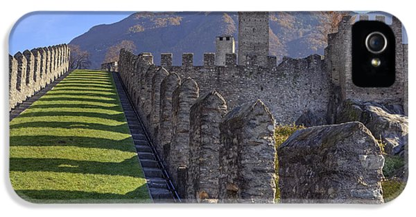 Castle iPhone 5 Cases - Bellinzona - Castelgrande iPhone 5 Case by Joana Kruse