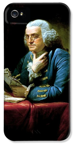 Americans iPhone 5 Cases - Ben Franklin iPhone 5 Case by War Is Hell Store