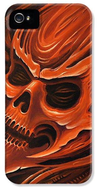 Bio-mechanical iPhone 5 Cases - Biomech Skull 1 iPhone 5 Case by Joe Riley