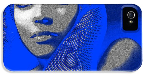 Glove iPhone 5 Cases - Blue Beauty iPhone 5 Case by Naxart Studio