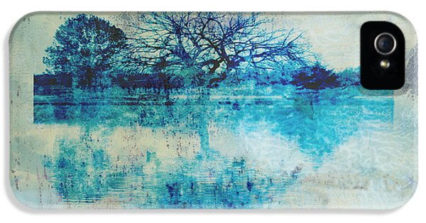 Blue Tree iPhone 5 Cases - Blue on Blue iPhone 5 Case by Ann Powell