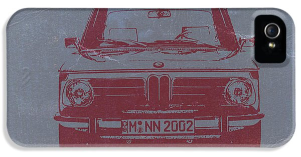 Vintage Cars iPhone 5 Cases - Bmw 2002 iPhone 5 Case by Naxart Studio