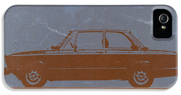 German Classic Cars iPhone 5 Cases - BMW 2002 Orange iPhone 5 Case by Naxart Studio
