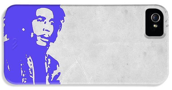 Bob Marley iPhone 5 Cases - Bob Marley Purple 3 iPhone 5 Case by Naxart Studio