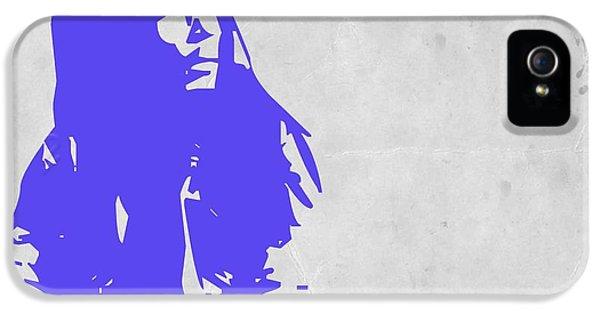 Bob Marley iPhone 5 Cases - Bob Marley Purple iPhone 5 Case by Naxart Studio