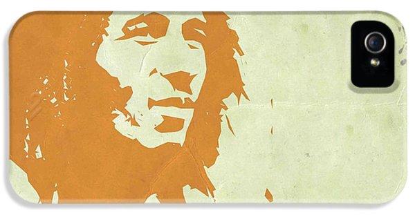 Bob Marley iPhone 5 Cases - Bob Marley Yellow 3 iPhone 5 Case by Naxart Studio