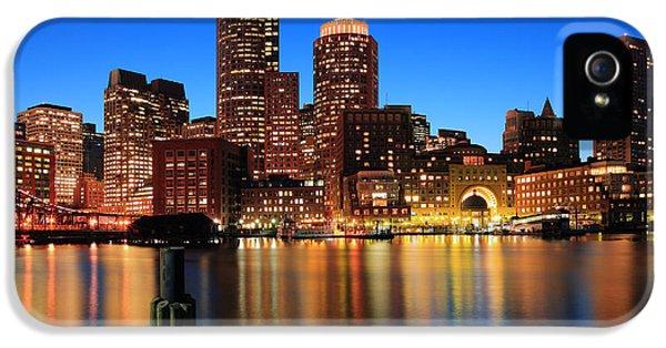 Harbor iPhone 5 Cases - Boston Aglow iPhone 5 Case by Rick Berk