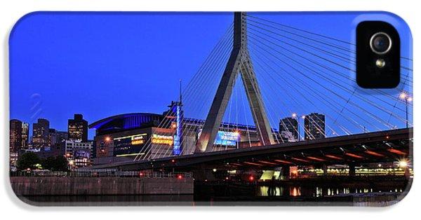 Massachusetts iPhone 5 Cases - Boston Garden and Zakim Bridge iPhone 5 Case by Rick Berk