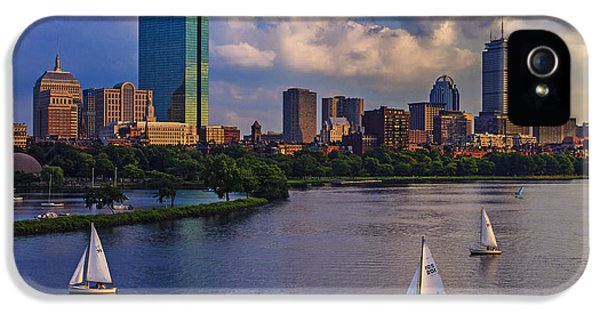 Buildings iPhone 5 Cases - Boston Skyline iPhone 5 Case by Rick Berk