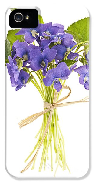 Bouquet iPhone 5 Cases - Bouquet of violets iPhone 5 Case by Elena Elisseeva