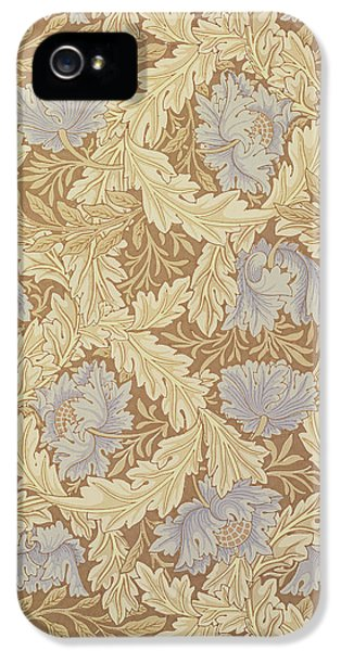 Arts And Crafts Movement iPhone 5 Cases - Bower Wallpaper Design iPhone 5 Case by William Morris