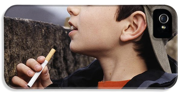 Nicotine iPhone 5 Cases - Boy With Cigarettes iPhone 5 Case by Andy Harmer