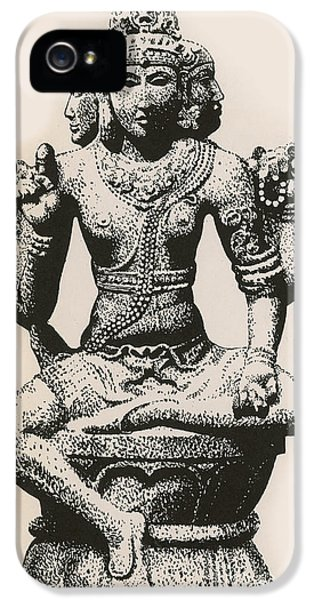 Religious iPhone 5 Cases - Brahma, Hindu God iPhone 5 Case by Photo Researchers