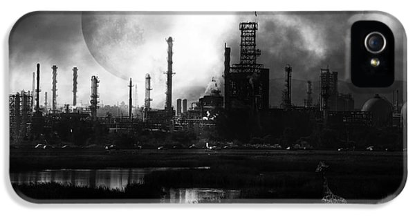 Huxley iPhone 5 Cases - Brave New World - Version 2 - Black and White - 7D10358 iPhone 5 Case by Wingsdomain Art and Photography