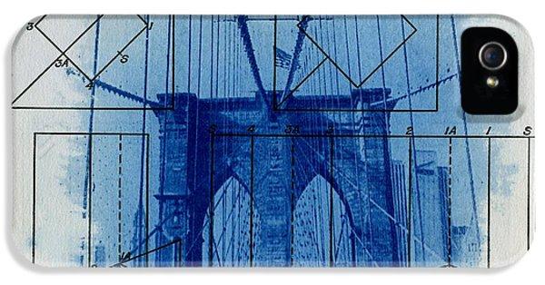 City Scenes iPhone 5 Cases - Brooklyn Bridge iPhone 5 Case by Jane Linders
