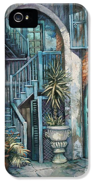 City Scene iPhone 5 Cases - Brulatour Courtyard iPhone 5 Case by Dianne Parks