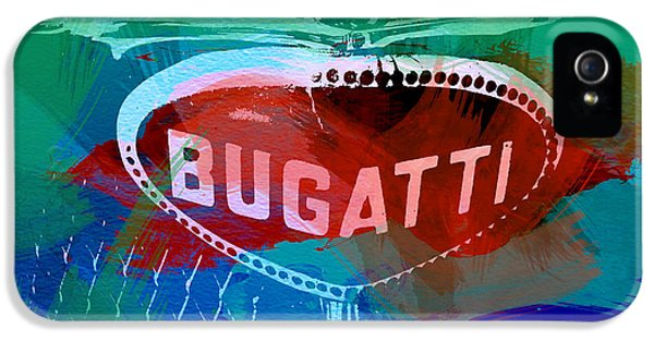 Bugatti Classic Car iPhone 5 Cases - Bugatti Badge iPhone 5 Case by Naxart Studio