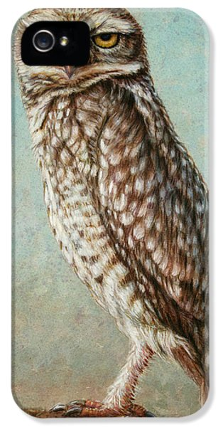 Wise iPhone 5 Cases - Burrowing Owl iPhone 5 Case by James W Johnson