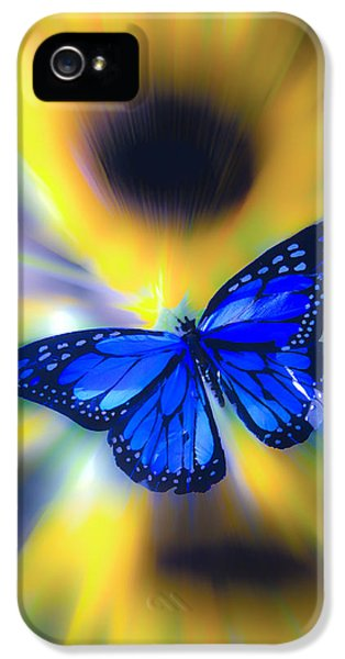 Cone Flowers And Butterflies iPhone 5 Cases - Butterfly Blur iPhone 5 Case by Steve McKinzie