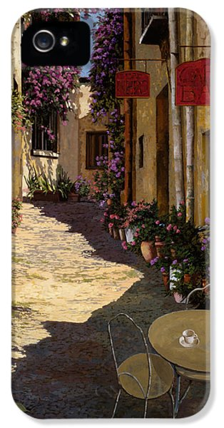 Chair iPhone 5 Cases - Cafe Piccolo iPhone 5 Case by Guido Borelli
