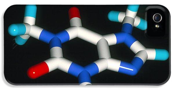 Alkaloid iPhone 5 Cases - Caffeine Molecule iPhone 5 Case by Laguna Design