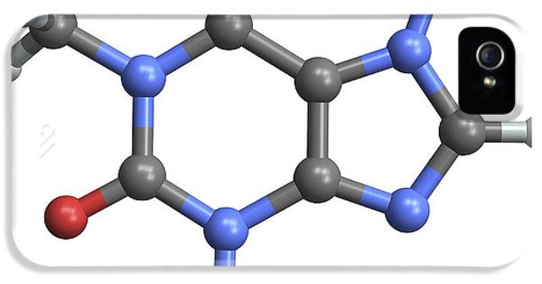 Alkaloid iPhone 5 Cases - Caffeine Molecule iPhone 5 Case by Pasieka