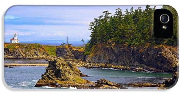 Cape Arago Lighthouse At Shore Acres IPhone 5 / 5s Case by Craig Tuttle