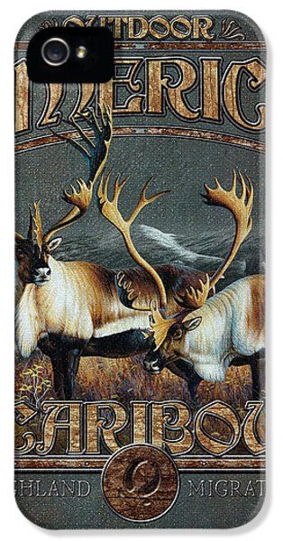 Caribou iPhone 5 Cases - Caribou iPhone 5 Case by JQ Licensing