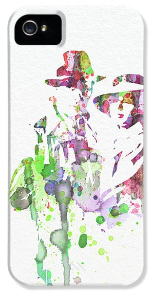 Film Watercolor iPhone 5 Cases - Casablanca iPhone 5 Case by Naxart Studio