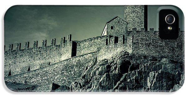 Castle iPhone 5 Cases - Castelgrande Bellinzona iPhone 5 Case by Joana Kruse
