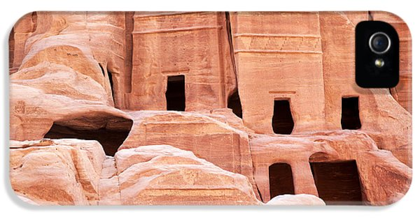 Archeology iPhone 5 Cases - Cave dwellings Petra. iPhone 5 Case by Jane Rix