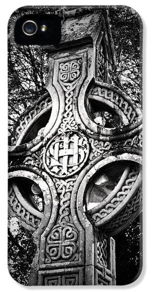Irish iPhone 5 Cases - Celtic Cross Detail Killarney Ireland iPhone 5 Case by Teresa Mucha
