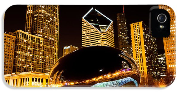 Cloud Gate iPhone 5 Cases - Chicago Bean Cloud Gate at Night iPhone 5 Case by Paul Velgos