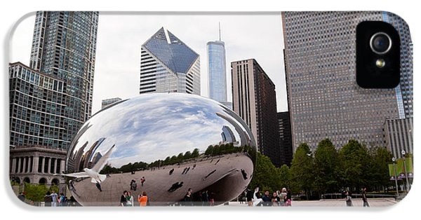 Cloud Gate iPhone 5 Cases - Chicago Bean Cloud Gate Sculpture at Millenium Park iPhone 5 Case by Paul Velgos