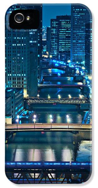 Illinois iPhone 5 Cases - Chicago Bridges iPhone 5 Case by Steve Gadomski