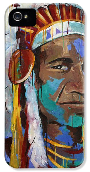 Native American Indian iPhone 5 Cases - Chiefing iPhone 5 Case by Julia Pappas
