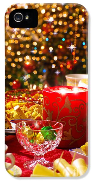 Glamorous iPhone 5 Cases - Christmas table set iPhone 5 Case by Carlos Caetano