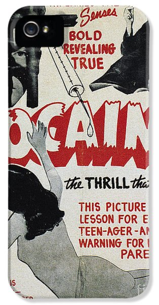 American Crime Film iPhone 5 Cases - COCAINE MOVIE POSTER, 1940s iPhone 5 Case by Granger