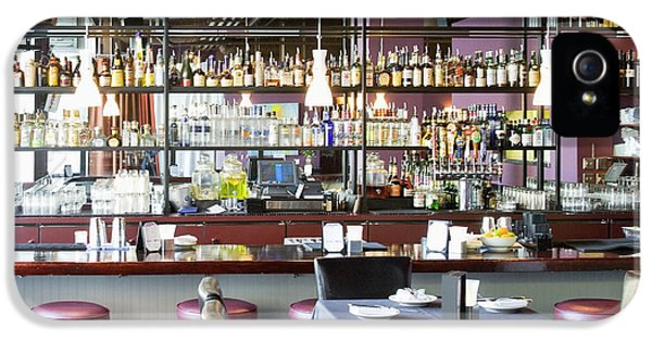 Barstools iPhone 5 Cases - Cocktail Bar iPhone 5 Case by Andersen Ross