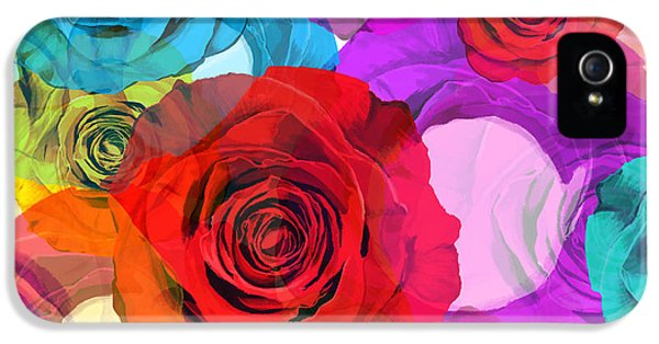 Roses iPhone 5 Cases - Colorful Floral Design  iPhone 5 Case by Setsiri Silapasuwanchai
