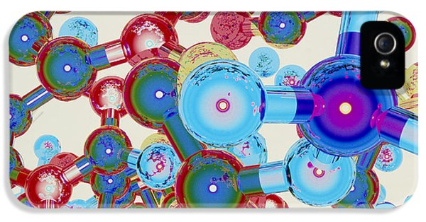 Molecular Graphic iPhone 5 Cases - Computer Artwork Of Part Of A Molecule iPhone 5 Case by Laguna Design