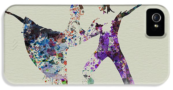 Glamour iPhone 5 Cases - Couple Dancing Ballet iPhone 5 Case by Naxart Studio