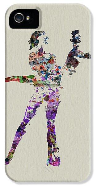 Ballerina iPhone 5 Cases - Couple dancing iPhone 5 Case by Naxart Studio