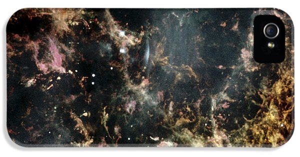 Astrophysics iPhone 5 Cases - Crab Nebula Gas Filaments iPhone 5 Case by Nasaesastscihubble Heritage Team