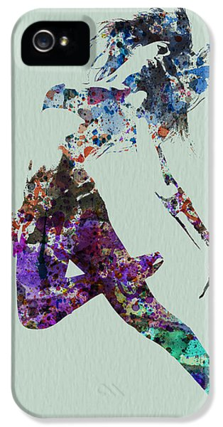 Glamour iPhone 5 Cases - Dancer watercolor iPhone 5 Case by Naxart Studio